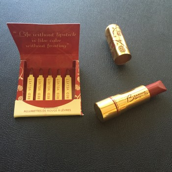 Besame Cosmetic Matchbook and Lipstick